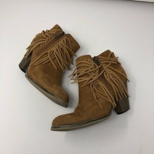 MIA Lindsey Fringe Ankle Bootie